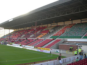 County Ground (Swindon) - The Arkells stand in July 2007. The entire away support was kept in the Stratton Bank on this occasion