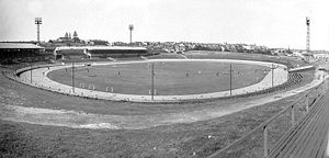 Sydney Roosters - General view of the former Sydney Sports Ground, Moore Park, as it appeared in 1937.