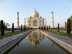 Symmetry of the Taj Mahal, Agra.jpg