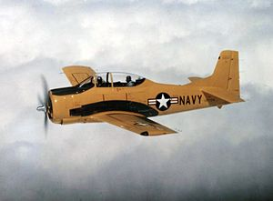 North American T-28 Trojan - An early-production U.S. Navy T-28B in 1954.