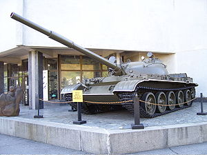 A T-62 tank on display at the Museum of The History of Ukraine in World War II in Kiev.