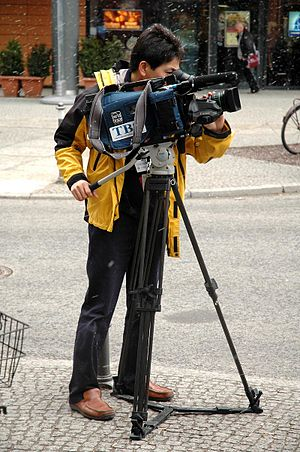 TBS Television cameraman in action 20050218.jpg