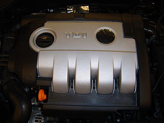 Turbocharged direct injection - TDI embossed on the engine cover