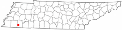 Location of Hickory Valley, Tennessee