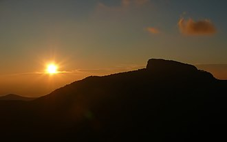 Linville Gorge Wilderness - Image: Table Rock 27527