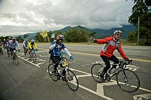 Huadong Valley - Image: Taiwan 2009 Bike Touring Fu Li Town FRD 8072