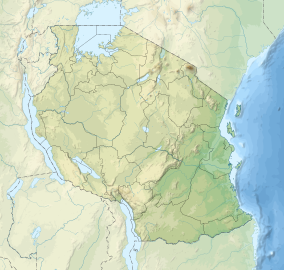 Map showing the location of Serengeti National Park