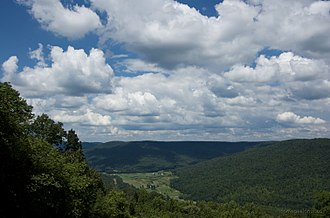 Beersheba Springs, Tennessee - A view of Tarlton Valley from Beersheba Springs