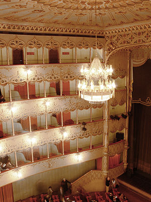 Teatro Goldoni (Venice) - Interior of the Teatro Vendramin, now Teatro Goldoni; the present building dates from the 1720s.