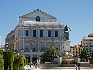 Teatro Real opera house in Madrid, Spain