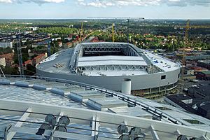 Tele2 Arena - During construction in June 2012