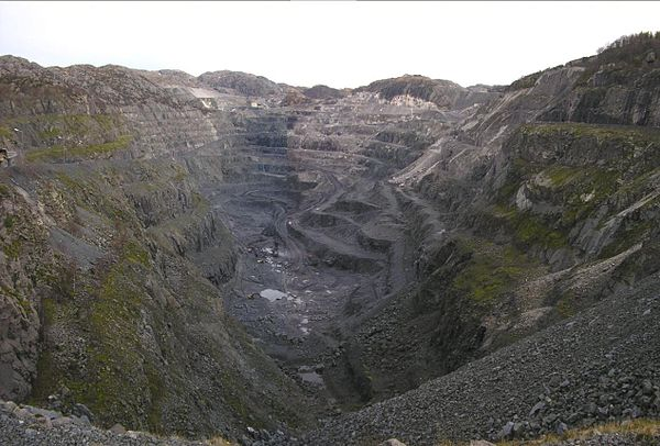 Tellnes opencast ilmenite mine, Sokndal, Norway Tellnes.jpg