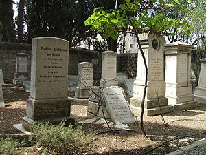 Templers (religious believers) - Templer Cemetery in the German Colony, Jerusalem