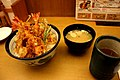 Tendon, miso soup and tea pokpok313 in Ikebukuro, Tokyo.jpg