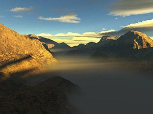 An image rendered in terragen
