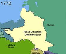 First partition of Poland in 1772