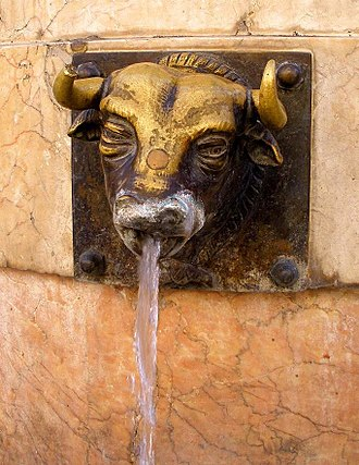 Teruel - El Torico Fountain.