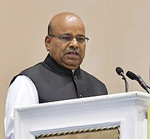 Thaawar Chand Gehlot addressing at the presentation of the National Awards for Outstanding Services in the field of Prevention of Alcoholism and Substance (Drugs) Abuse.JPG