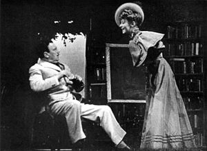 The Corn Is Green - Edmund Breon and Thelma Schnee in the Broadway production of The Corn Is Green (1940)