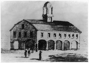 13th New York State Legislature - The Old Royal Exchange, in New York City, where the Legislature met for the regular session in 1790.