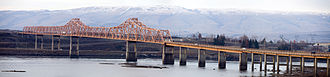 U.S. Route 197 - US 197 is carried by The Dalles Bridge over the Columbia River into Washington