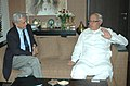 The Advisor for International Affairs to Prime Minister of Bangladesh, Dr. Gowher Rizvi calls on the Union Minister of New and Renewable Energy, Dr. Farooq Abdullah, in New Delhi on October 21, 2009.jpg