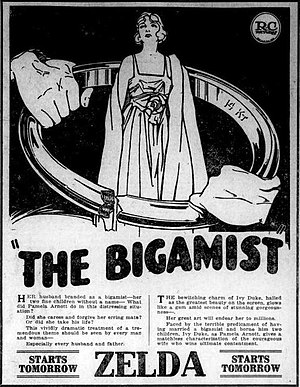 The Bigamist (1921 film) - American newspaper ad