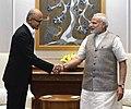 The CEO of Microsoft, Shri Satya Narayana Nadella calls on the Prime Minister, Shri Narendra Modi, in New Delhi on February 21, 2017.jpg