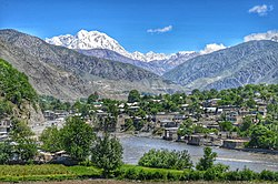 A view of the city of Chitral