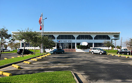 The headquarters of The Galveston County Daily News The Daily News building in Galveston Texas.jpg