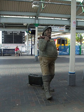 Skegness - Jolly Fisherman at the railway station