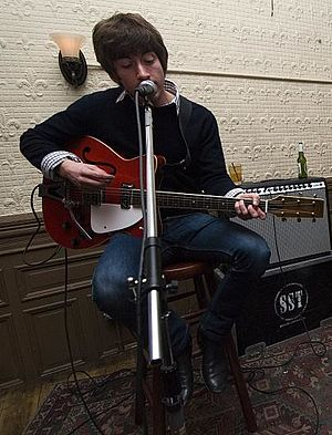 Alex Turner (musician) - Turner during a Last Shadow Puppets performance in 2008