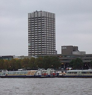 London Weekend Television - The London Studios, seen from across the River Thames.