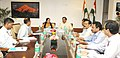 The Minister of State for Culture (Independent Charge), Tourism (Independent Charge) and Civil Aviation, Dr. Mahesh Sharma in a meeting with the Chief Minister of Rajasthan, Smt. Vasundhara Raje, in New Delhi.jpg