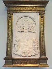 The Nativity by Domenico Gagini, c. 1460, marble - National Gallery of Art, Washington - DSC08617.JPG