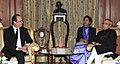 The President of France, Mr. Francois Hollande meeting the President, Shri Pranab Mukherjee, at Rashtrapati Bhavan, in New Delhi on January 25, 2016.jpg