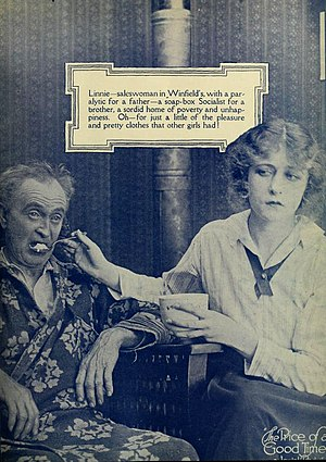 Alfred Allen (actor) - Alfred Allen with Mildred Harris in The Price of a Good Time (1917)