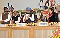 The Prime Minister, Dr. Manmohan Singh releasing the 'Report to People, on the Mahatma Gandhi NREGA', at the Mahatma Gandhi NREGA SAMMELAN 2010, in New Delhi on February 02, 2010.jpg