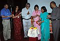 The Secretary, Ministry of Information & Broadcasting, Ms. Sushma Singh lighting the lamp to inaugurate the 'Framing Time' by Films Division, during the 39th International Film Festival (IFFI-2008) in Panaji, Goa.jpg