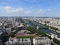 The Seine from 2nd floor of the Eiffel Tower, Paris June 2014.jpg