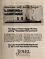 The Sinking of the Lusitania, ad in The Moving Picture Weekly July 20th, 1918, p. 45.jpg
