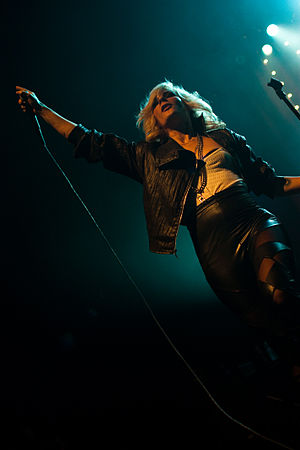 The Sounds - Maja Ivarsson performing.