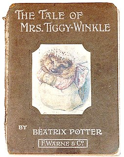<i>The Tale of Mrs. Tiggy-Winkle</i> childrens book written and illustrated by Beatrix Potter
