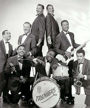 The Treniers - Late 1950s Clockwise from left: Gene Gilbeaux (piano), Buddy Trenier, Cliff Trenier, Claude Trenier, Jimmy Johnson bass, Don Hill (sax), Henry (Tucker) Green (drums), Skip Trenier