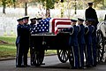 The U.S. Air Force Honor Guard's Body Bearers team prepares to remove the remains of Col 121019-F-MJ260-122.jpg