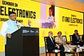 """The Union Minister for Communications & Information Technology, Shri Ravi Shankar Prasad addressing at the Seminar on """"IT and Electronics"""", during the Make in India Week, in Mumbai on February 15, 2016.jpg"""