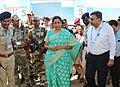 The Union Minister for Defence, Smt. Nirmala Sitharaman visiting an exhibition, during the DefExpo India – 2018, at Thiruvidanthai, Kancheepuram district near Chennai on April 13, 2018 (3).jpg