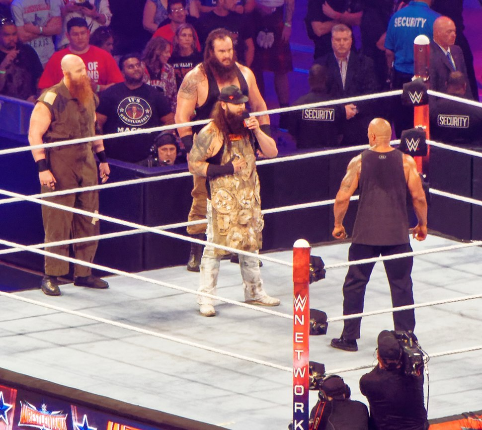 The Wyatt Family confronts The Rock at WrestleMania 32