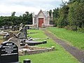 The modern graveyard at Downpatrick Cathedral - geograph.org.uk - 1525023.jpg
