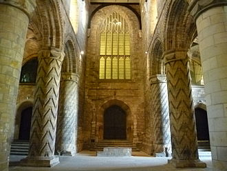 Dunfermline Abbey - The nave from the reign of King David I